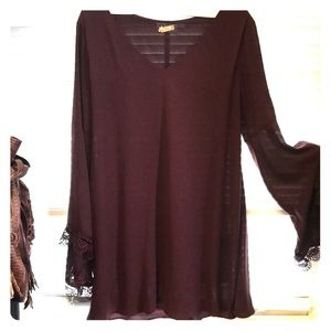 Plum long woman's  blouse